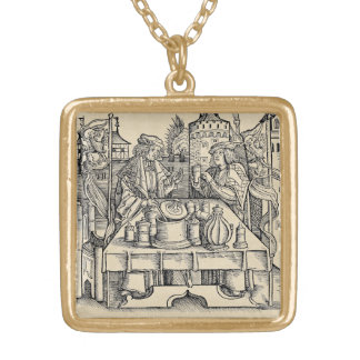 Royal Alchemist in the Castle Gold Plated Necklace