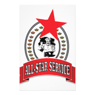 royal all-star service stationery