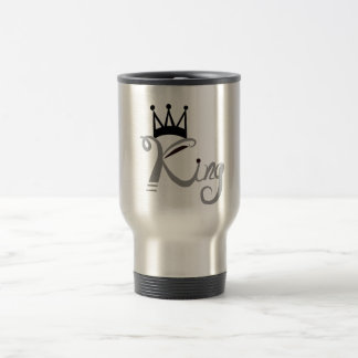 Royal and stunning Black and gray king travel mug