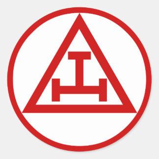 Royal Arch Masons, NOT WATERPROOF Classic Round Sticker