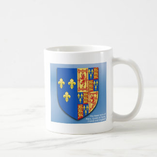 ROYAL ARMS OF MARY QUEEN OF SCOTS FRANCE AND ENGLA BASIC WHITE MUG