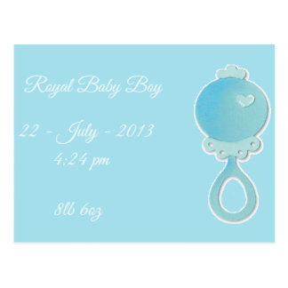 Royal Baby Boy Postcard