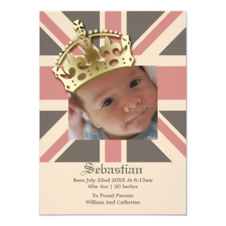 Royal Baby New Baby With Crown Card