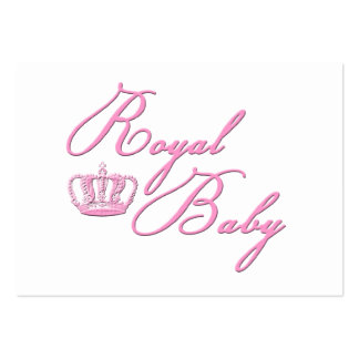 Royal Baby Pink With Crown Business Card Template
