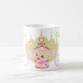 Royal Baby Will Kate commemorative mug girl pink