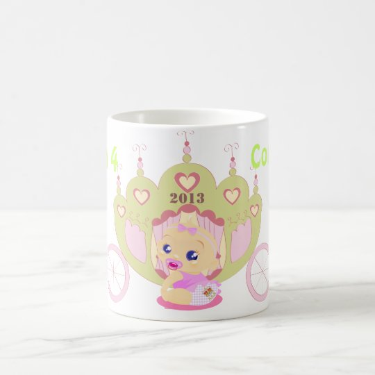 Royal Baby Will Kate commemorative mug girl pink