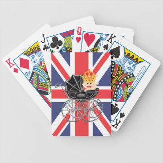 Royal Baby with Crown and Union playing cards