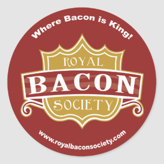 Royal Bacon Society Round Stickers