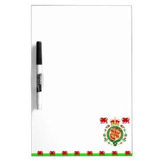 Royal Badge of Wales Dry Erase Board