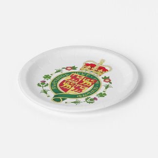 Royal Badge of Wales Paper Plate
