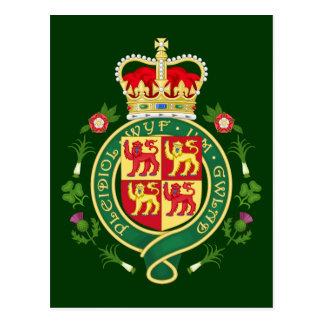 Royal Badge of Wales Postcard