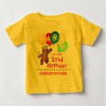 Royal Bear 2nd Birthday Party Custom T Shirt