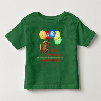 Royal Bear 3rd Birthday Party Custom Tee Shirt