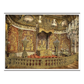 Royal bedroom, Herrenchiemsee Castle, Upper Bavari Postcard