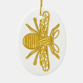 royal bee, imitation of embroidery ceramic ornament