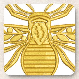 royal bee, imitation of embroidery coaster