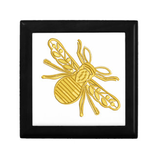 royal bee, imitation of embroidery gift box