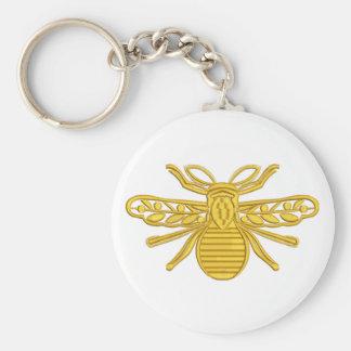 royal bee, imitation of embroidery keychain