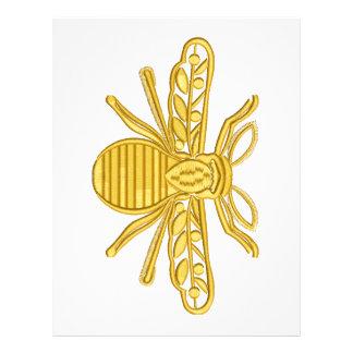 royal bee, imitation of embroidery letterhead