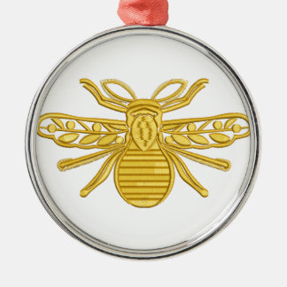 royal bee, imitation of embroidery metal ornament