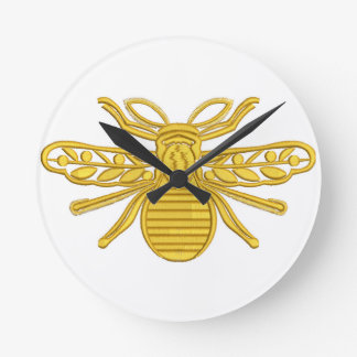 royal bee, imitation of embroidery round clock
