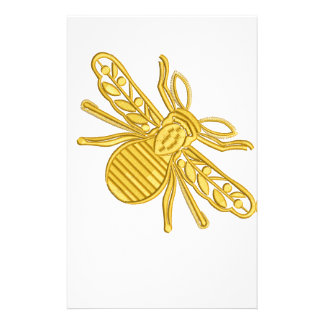 royal bee, imitation of embroidery stationery