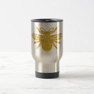 royal bee, imitation of embroidery travel mug