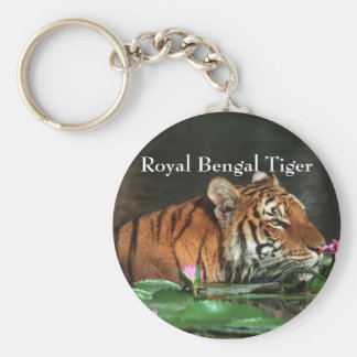 Royal Bengal Tiger Basic Round Button Keychain