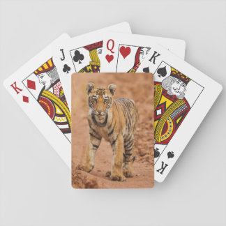 Royal Bengal Tiger cub on the move Poker Deck