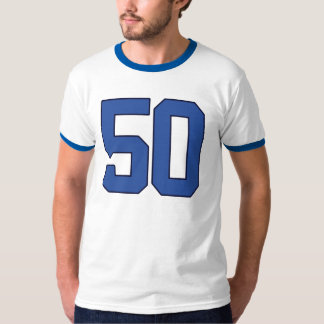 Royal Blue #50 VARSITY Birthday T-Shirt