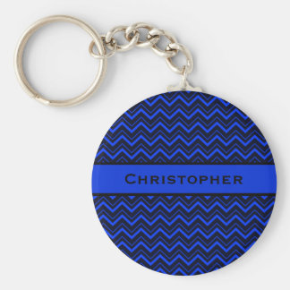 Royal Blue and Black Keychain