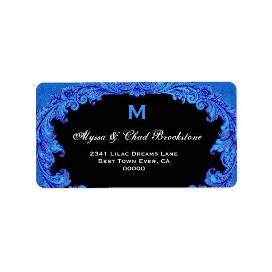 Royal Blue and Black Vintage Monogram G451 Label