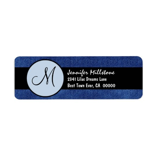 Royal Blue and Black Wedding Monogram