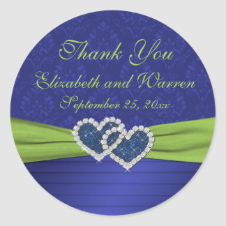 "Royal Blue and Chartreuse 3"" Round Sticker"