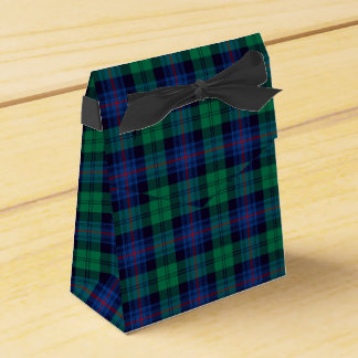 Royal Blue and Green Armstrong Tartan Favor Box