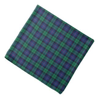 Royal Blue and Green Armstrong Tartan Kerchiefs