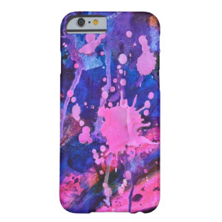 Royal blue and hot pink abstract barely there iPhone 6 case