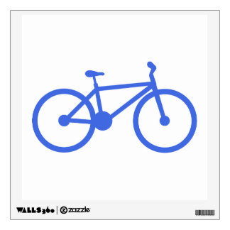Royal Blue and White Bicycle Wall Sticker