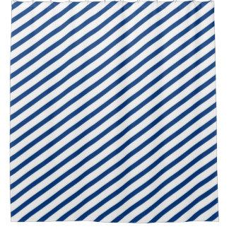 Royal Blue and White Diagonal Stripes Modern