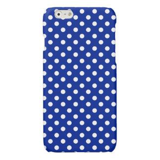 Royal Blue and White Polka Dot