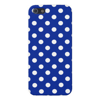 Royal Blue and White Polka Dot iPhone 5 Case