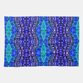 royal blue aqua hippie tiedye rug pattern kitchen towel