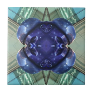 Royal Blue Aquamarine Modern Artistic Abstract Ceramic Tiles