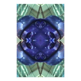 Royal Blue Aquamarine Modern Artistic Abstract Stationery