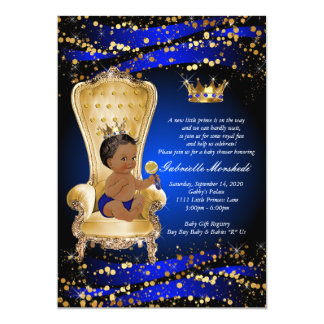 Royal Blue Baby Shower, Baby shower Invitation