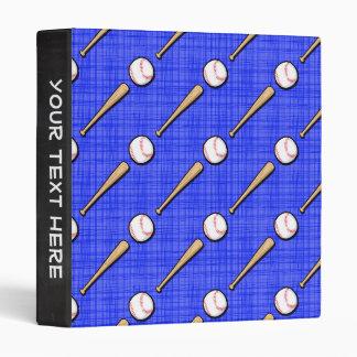 Royal Blue Baseball Pattern Vinyl Binders