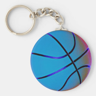 Royal Blue Basket Ball With Slight Brown Keychain