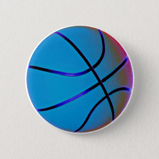 Royal Blue Basketball 2 Inch Round Button