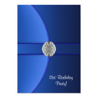 Royal Blue Birthday Party Card