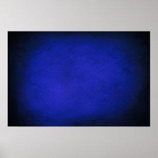 Royal Blue & Black Backgrounds Poster